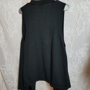 Gap black sleeveless open front cardigan